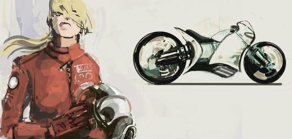 sketch-biker